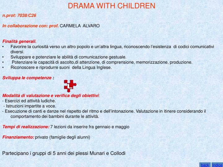 DRAMA WITH CHILDREN