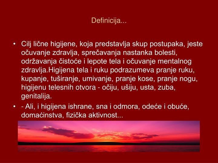 Definicija...