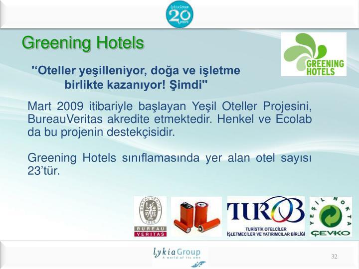 Greening Hotels