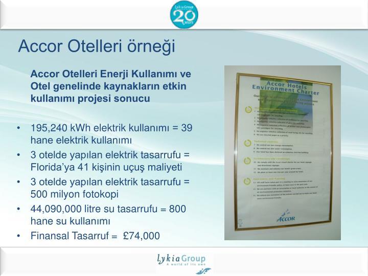 Accor Otelleri örneği