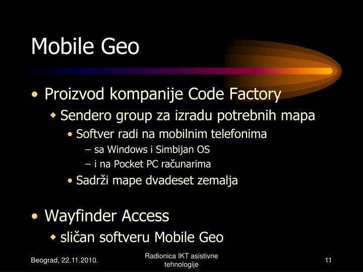 Mobile Geo