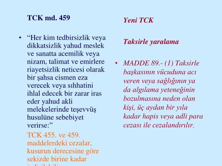 TCK md. 459