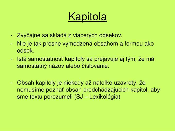 Kapitola
