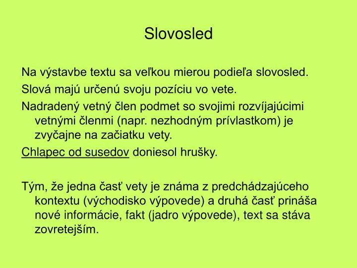 Slovosled
