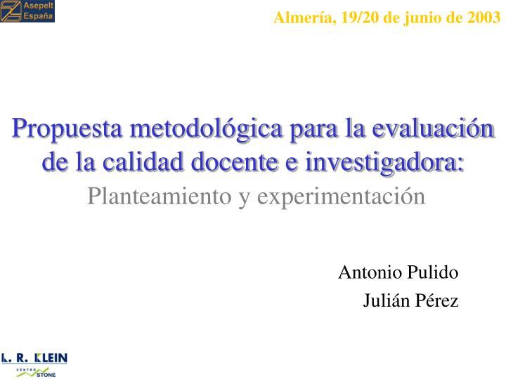 Almería, 19/20 de junio de 2003