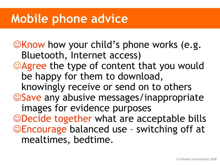 Mobile phone advice