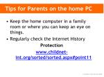 tips for parents on the home pc