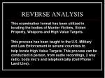reverse analysis