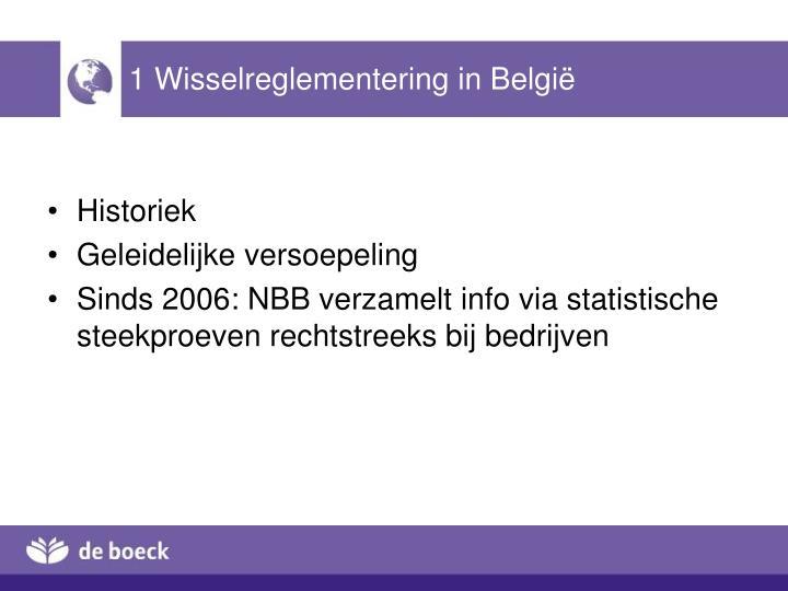 1 Wisselreglementering in België