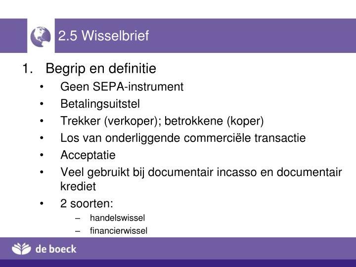 2.5 Wisselbrief