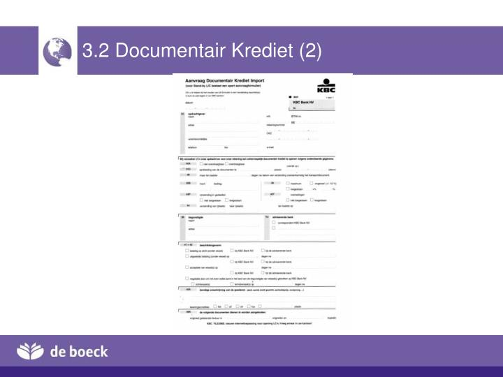3.2 Documentair Krediet (2)