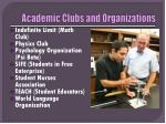 academic clubs and organizations1