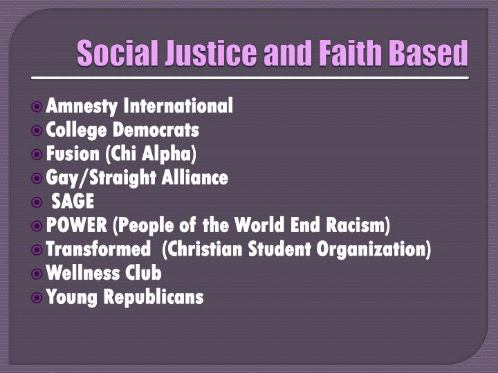 Social Justice and Faith Based