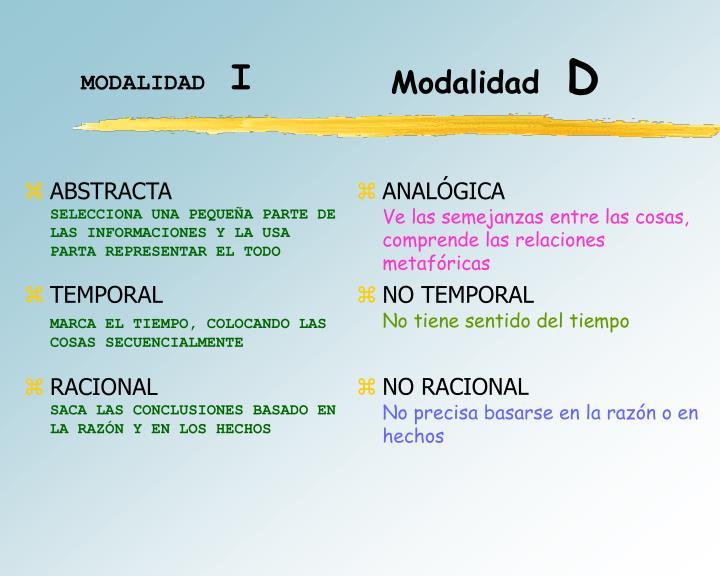 MODALIDAD
