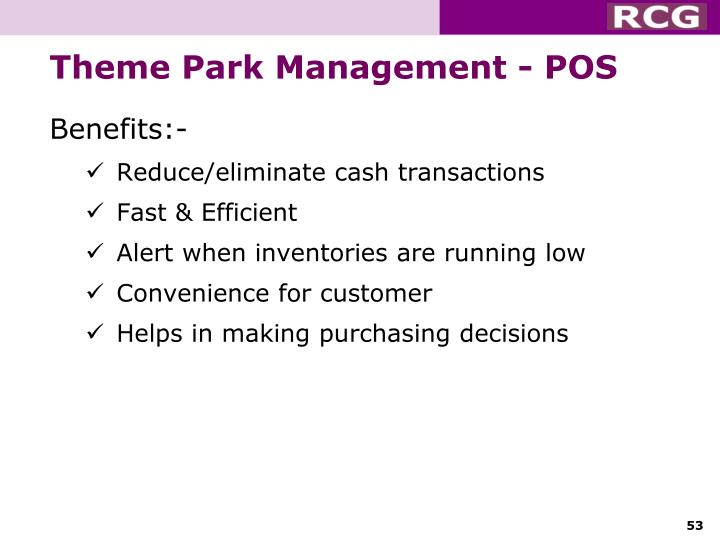 Theme Park Management - POS