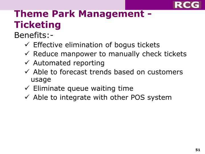 Theme Park Management - Ticketing