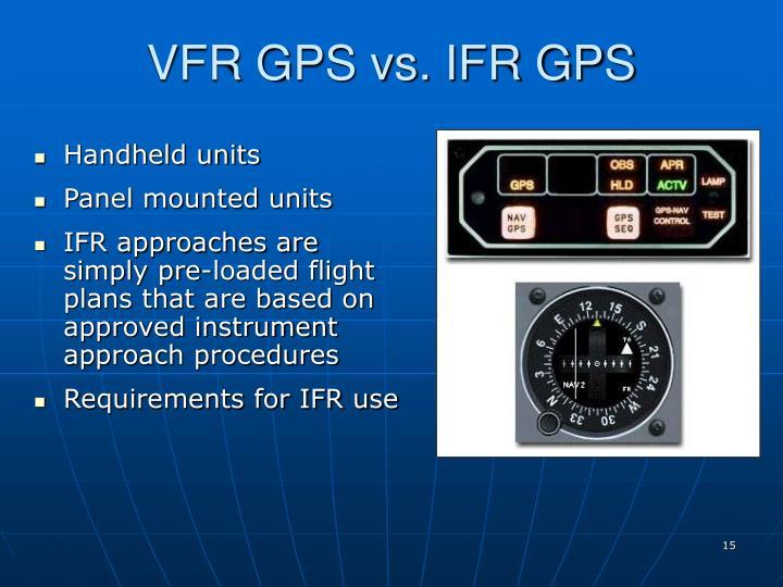 VFR GPS vs. IFR GPS