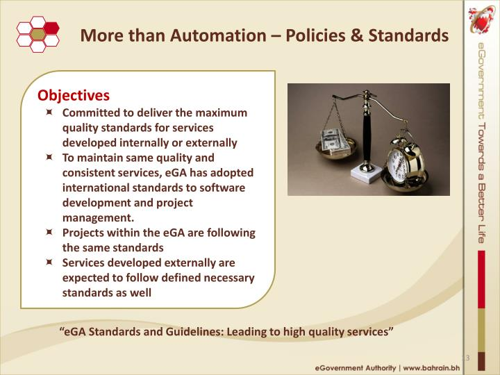 More than Automation – Policies & Standards