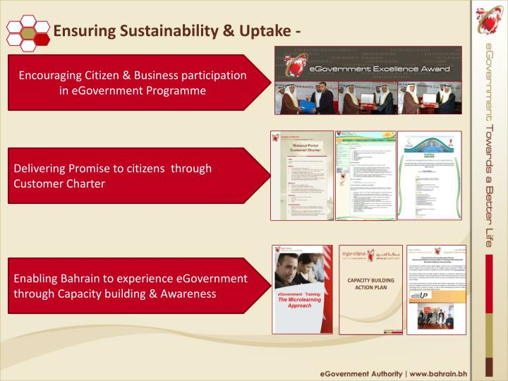Ensuring Sustainability & Uptake -