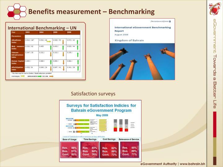 Benefits measurement – Benchmarking
