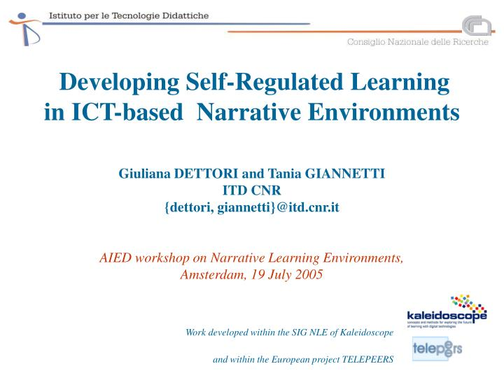 Developing Self-Regulated Learning