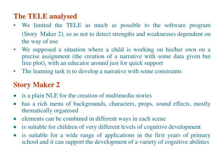 The TELE analysed