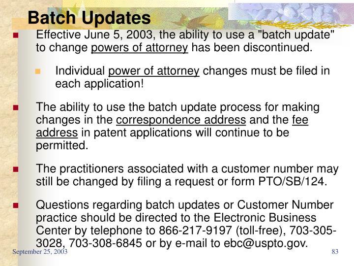 Batch Updates