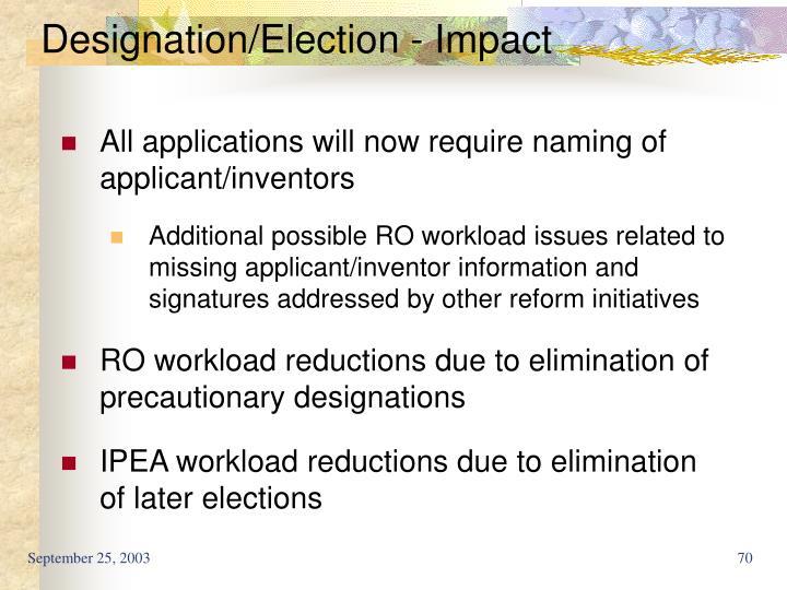 Designation/Election - Impact