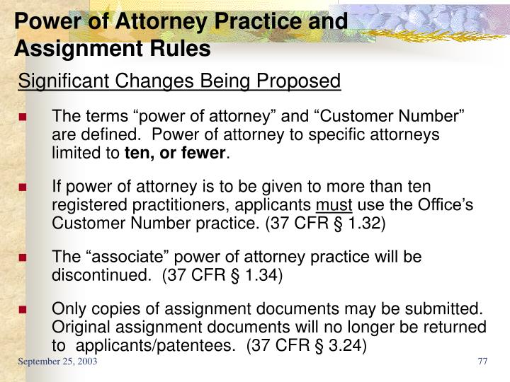 Power of Attorney Practice and