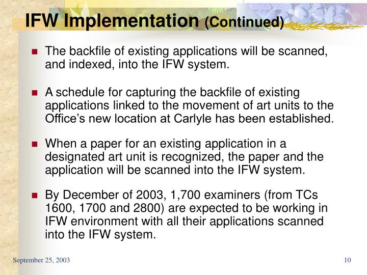 IFW Implementation