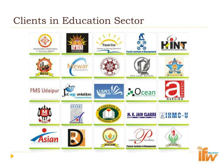 Clients in Education Sector