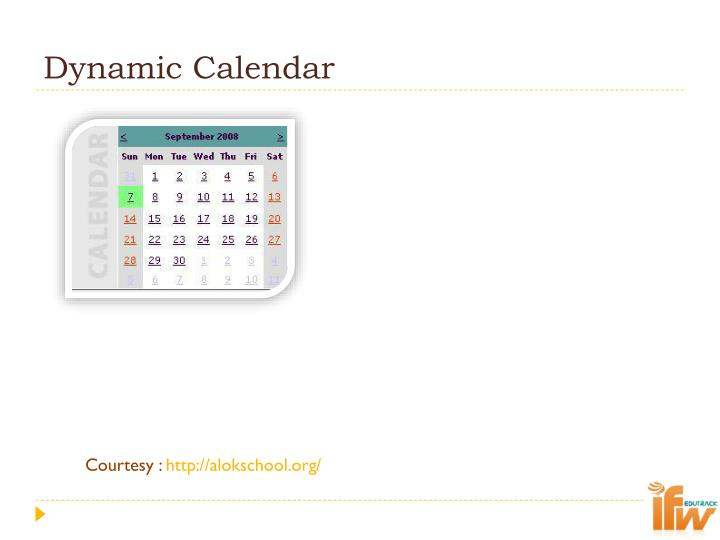 Dynamic Calendar