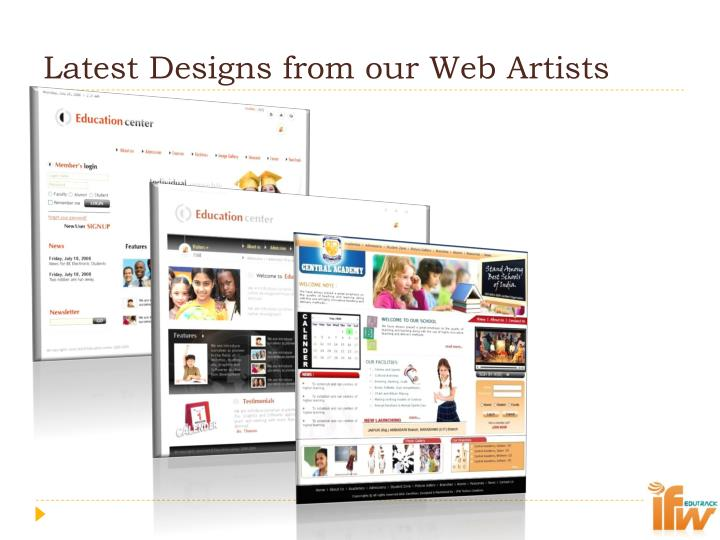 Latest Designs from our Web Artists