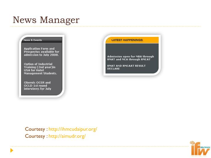 News Manager