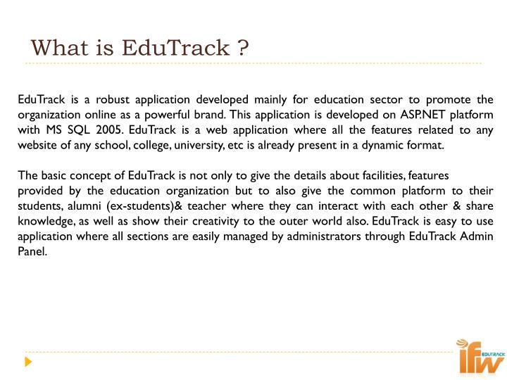 What is EduTrack ?