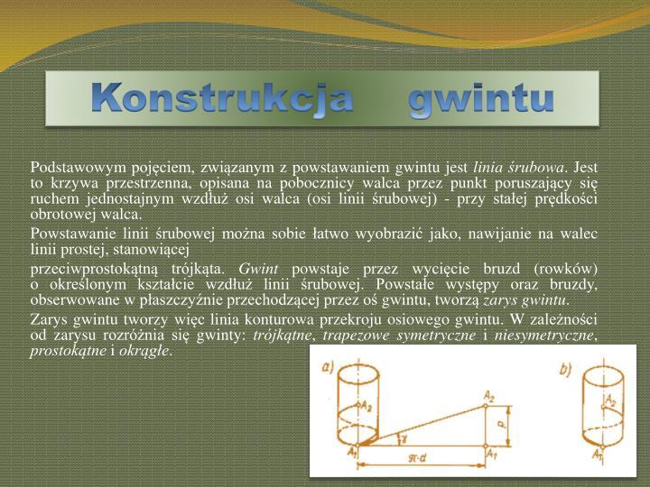 Konstrukcja    gwintu