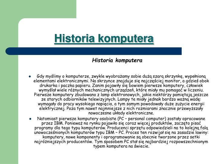 Historia komputera