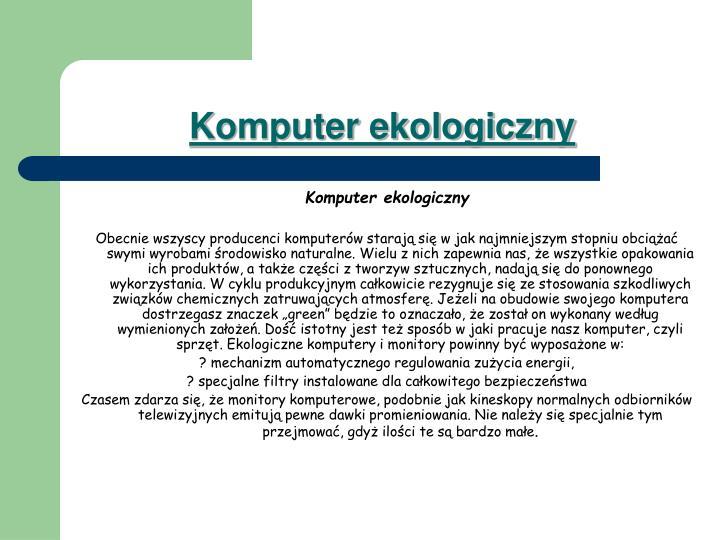 Komputer ekologiczny