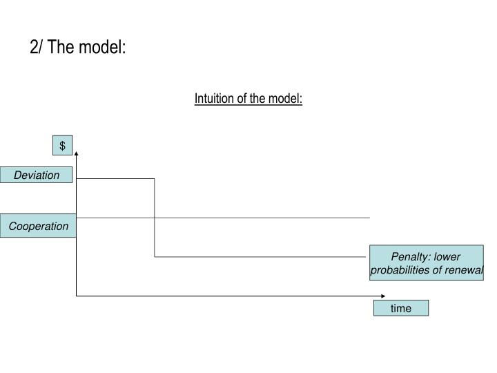 2/ The model: