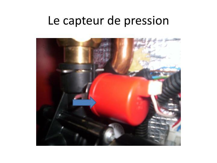 Le capteur de pression