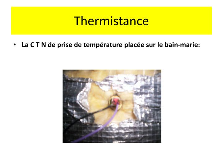 Thermistance
