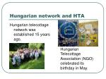 hungarian network and hta