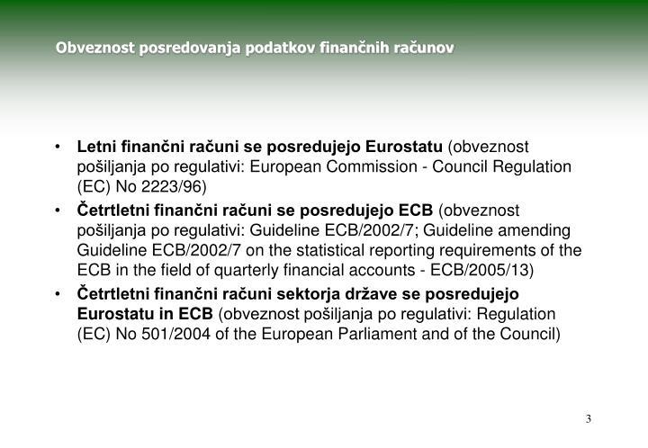 Obveznost posredovanja podatkov finančnih računov