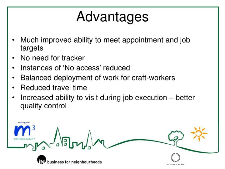 Much improved ability to meet appointment and job targets