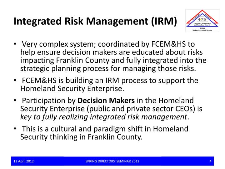 Integrated Risk Management (IRM)