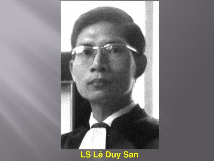 LS Lê Duy San