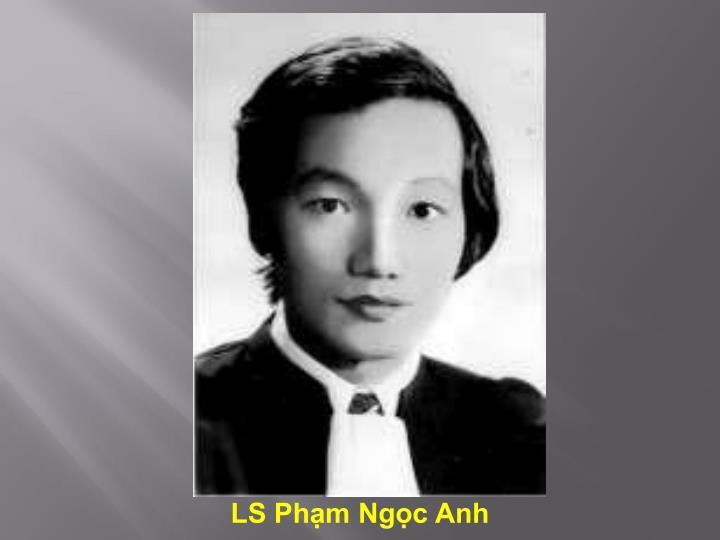 LS Phạm Ngọc Anh