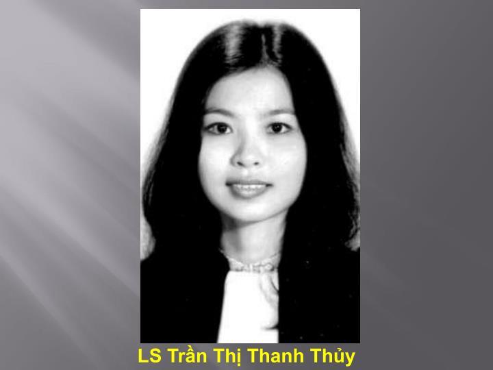 LS Trần Thị Thanh Thủy