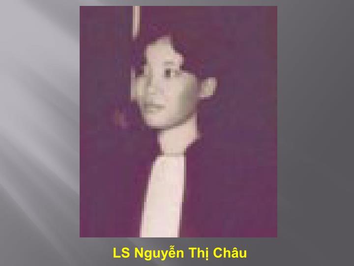 LS Nguyễn Thị Châu