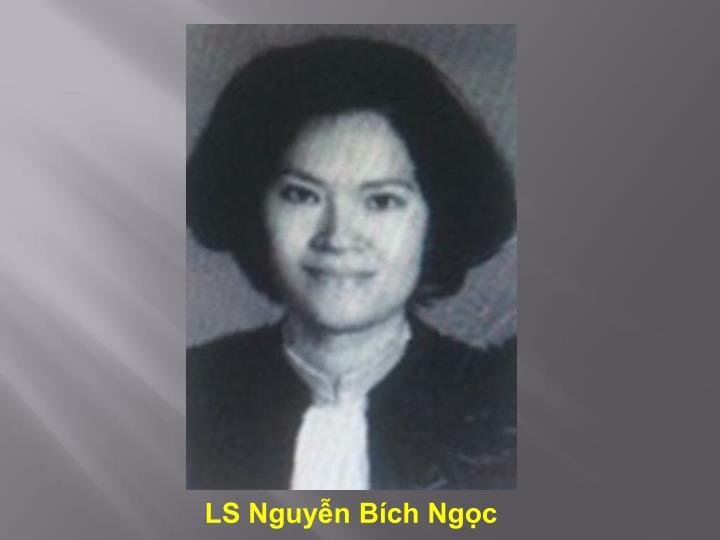 LS Nguyễn Bích Ngọc